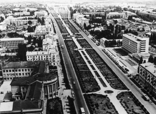 Краснодар в 50 е года улица красная